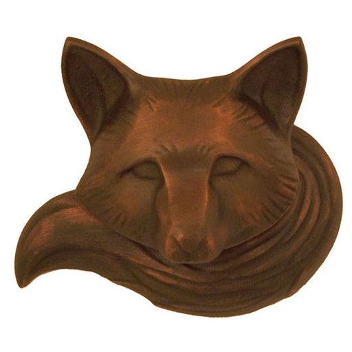 View a Larger Image of Fox Door Knocker - Oiled Bronze