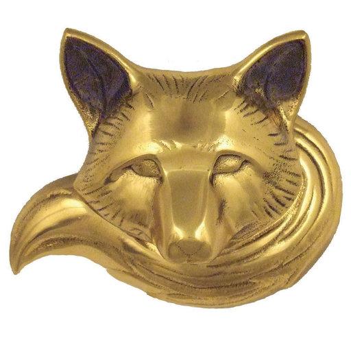 View a Larger Image of Fox Doorbell Ringer - Brass