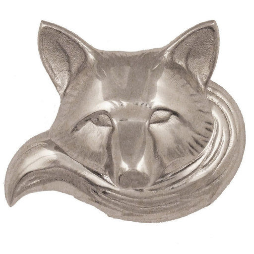 View a Larger Image of Fox Doorbell Ringer - Nickel Silver