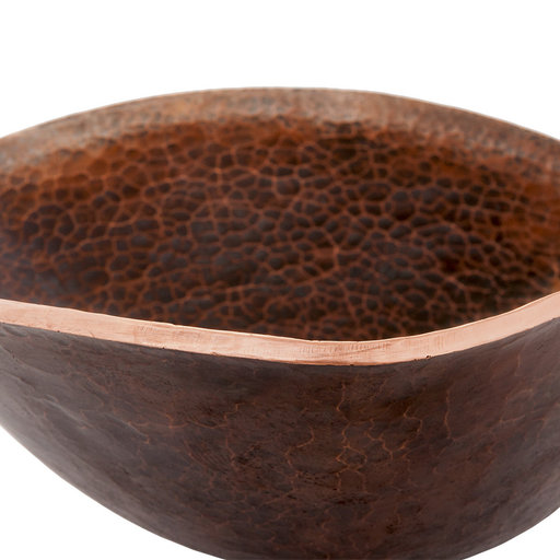 View a Larger Image of Free Form Hand Forged Old World Copper Vessel Sink