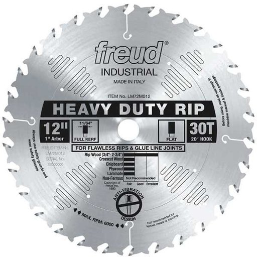 """View a Larger Image of 12"""" Full Kerf Heavy Duty Rip Blade"""