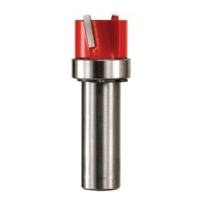 """16-524 Mortising Router Bit with Top Bearing 1/2"""" SH 1-1/4"""" D 5/8"""" CL"""