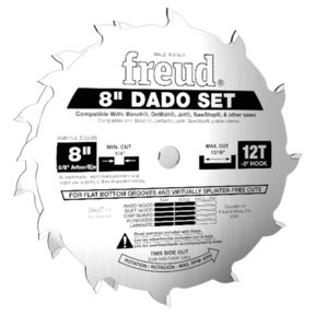 """8"""" Stacked Dado Set for All Saws"""