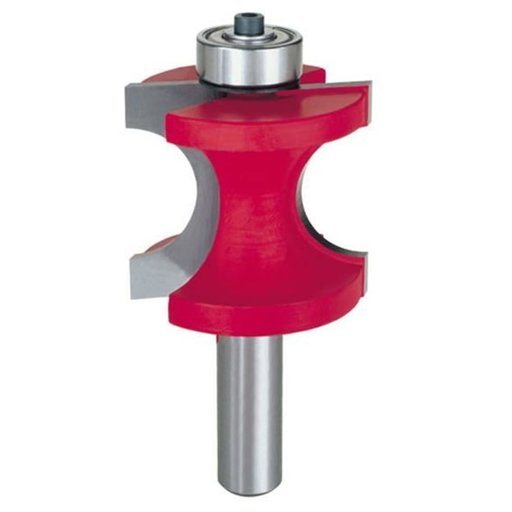 """View a Larger Image of 82-514 Half Round Router Bit with Bearing 1/2"""" Shank 1/2"""" R 1-19/32"""" CL"""
