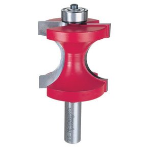 """82-515 Half Round Router Bit with Bearing 1/2"""" Shank 5/8"""" R 2"""" CL"""