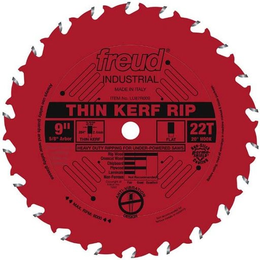 """View a Larger Image of 9"""" Thin Kerf Rip Blade"""