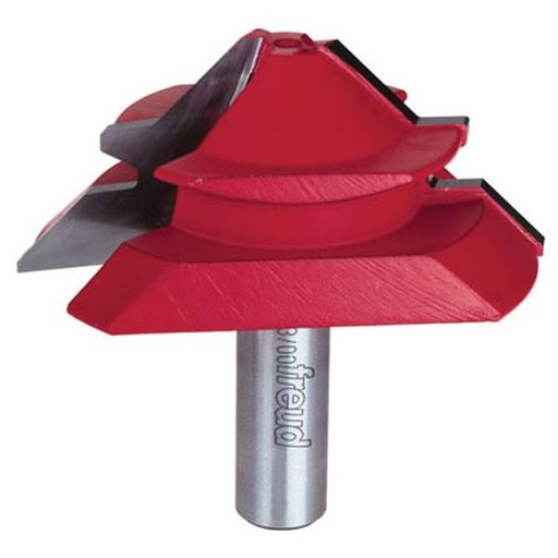 """View a Larger Image of 99-035 Lock Miter Router Bit 1/2"""" Shank 45 Degrees 7/8"""" CL"""