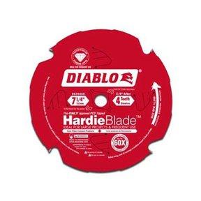 """D0704DH Hardie Blade, 7-1/4"""" diameter, 5/8"""" arbor, 4 Teeth TCG (PCD)"""