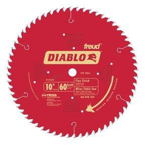 """D1060X Diablo Fine Finish Blade, 10"""" diameter, 5/8"""" arbor, 60 teeth Hi-ATB"""