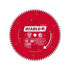 "D1084L Diablo Laminate/Flooring Blade - Sliding Miter, 10"" diameter, 5/8"" arbor, 84 teeth TCG"