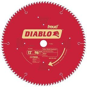 """D1296N Diablo Wood/Laminate/Non-Ferrous/Plastics Blade, 12"""" diameter, 1"""" arbor, 96 teeth TCG"""