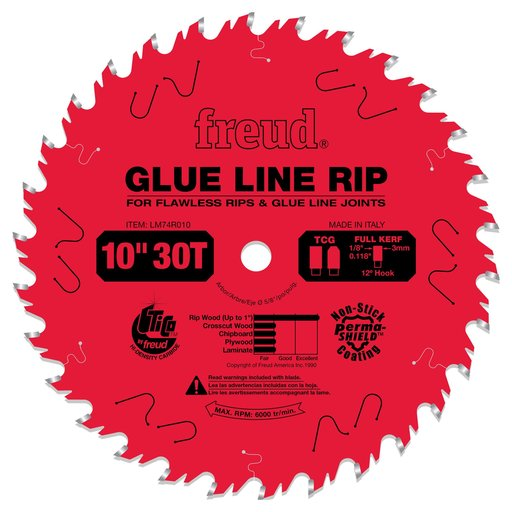 """View a Larger Image of LM74R010 Glue Line Ripping Circular Saw Ripping Saw Blade 10"""" x 5/8"""" Bore x 30 Tooth"""