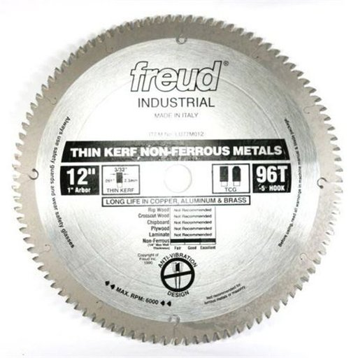 """View a Larger Image of LU77M012 Circular Saw Blade 12"""" x 1"""" Bore x 86 Tooth TCG Thin Kerf"""