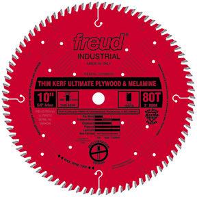 """LU79R010 Circular Saw Plywood/Melamine Saw Blade 10"""" x 5/8"""" Bore x 80 Tooth Hi-ATB Thin Kerf"""