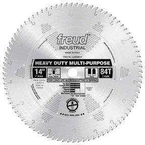 """LU82M014 Industrial Heavy Duty Multi-Purpose Blade, 14"""" diameter, 1"""" arbor, 84 teeth TCG"""