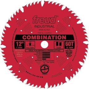 "LU84R012 Red Perma-Shield Circular Saw Blade 12"" x 1"" Bore x 60 Tooth Hi-Combination"