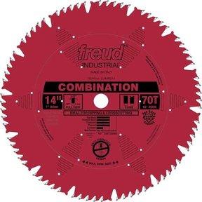 "LU84R014 Industrial Combination Blade with Red Perma-Shield, 14"" diameter, 1"" arbor, 70 teeth"