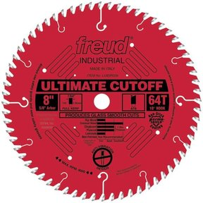 """LU85R008 Industrial Ultimate Cut-Off Bladed with Red Perma-Shield 8"""" x 5/8"""" Bore x 64 Tooth ATB"""