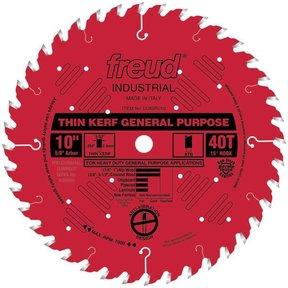 "LU86R010 Red Circular Saw Blade 10"" x 5/8"" Bore x 40 Tooth ATB Thin Kerf"