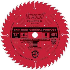 "LU86R012 Circular Saw Blade 12"" x 1"" Bore x 48 Tooth ATB Thin Kerf"