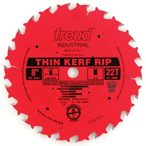 """View a Larger Image of LU87R008 Red Perma Shield Circular Saw Blade 8"""" x 5/8"""" Bore x 22 Tooth ATB"""