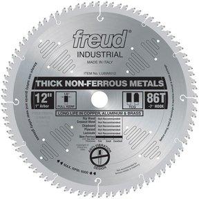 "LU89M012 Circular Saw Aluminium Saw Blade 12"" x 1"" Bore x 86 Tooth TCG"