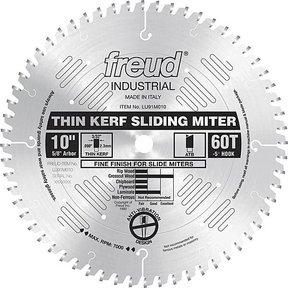 "LU91M010 Sliding Compound Miter Saw Blade 10"" X 5/8"" Bore X 60 Tooth Thin Kerf"