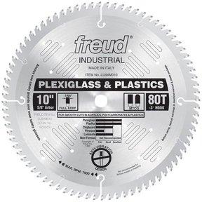 "LU94M010 Circular Saw Plastic Saw Blade 10"" x 5/8"" Bore x 80 Tooth TCG"