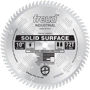 """LU95M010 Industrial Solid Surface Blade, 10"""" diameter, 5/8"""" arbor, 72 teeth TCG"""