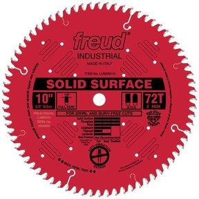 "LU95R010 Circular Saw Solid Surface Saw Blade 10"" x 5/8"" Bore x 72 Tooth TCG"