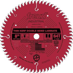 """LU96R008 Double sided Laminate / Melamine Saw Blade 8"""" X 5/8"""" Bore X 64Tooth Thin Kerf"""