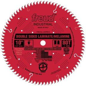"LU97R9010 Double Sided Laminated/Melamine Circular Saw Blade 10"" X 5/8"" Bore X 80 Tooth TCG"