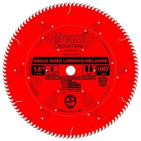 "LU98R014 Industrial Single Sided Laminate/Melamine Blade with Red Perma-Shield, 14"" diameter"