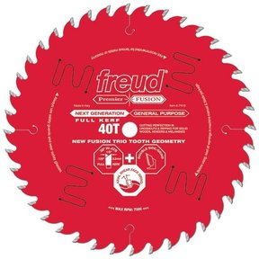 "P408 Premier Fusion Crosscut & Rip Blade, 8"" diameter, 5/8"" arbor, 34 teeth, 30 degree Hi-ATB"
