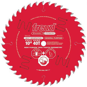 "P410 Fusion Premier Circular Saw Blade 10"" x 5/8"" Bore x 40 Tooth"