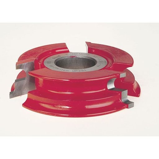 """View a Larger Image of UP294 Door Lip Shaper Cutter, 4-21/64"""" OD, 25/64"""" CD, 1-1/32"""" CL, 1-1/4"""" bore"""