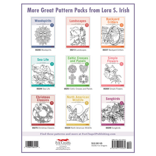 View a Larger Image of Fun Dragons Carving Patterns Pack
