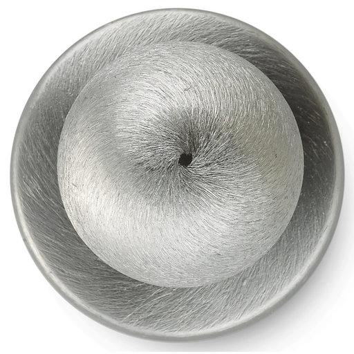 """View a Larger Image of Functional Knob, 1-1/4"""" D, Brushed Chrome"""