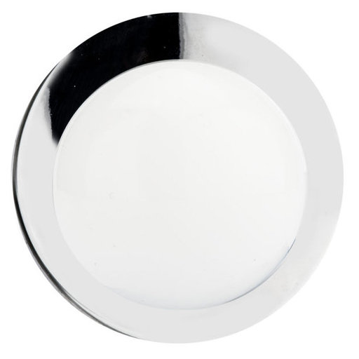 """View a Larger Image of Functional Knob, 1-1/4"""" D, Chrome, White"""