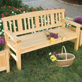 Garden Bench Downloadable Plan