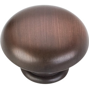 """Gatsby Knob, 1-3/16"""" Dia.,  Brushed Oil Rubbed Bronze"""