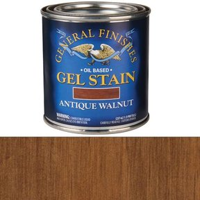 Antique Walnut Gel Stain Solvent Based 1/2 Pint