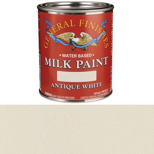 View a Larger Image of Antique White Milk Paint Water Based Pint
