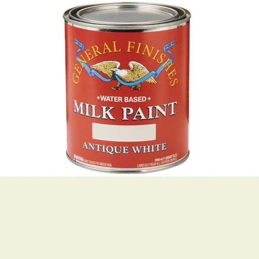 View a Larger Image of Antique White Milk Paint Water Based Quart