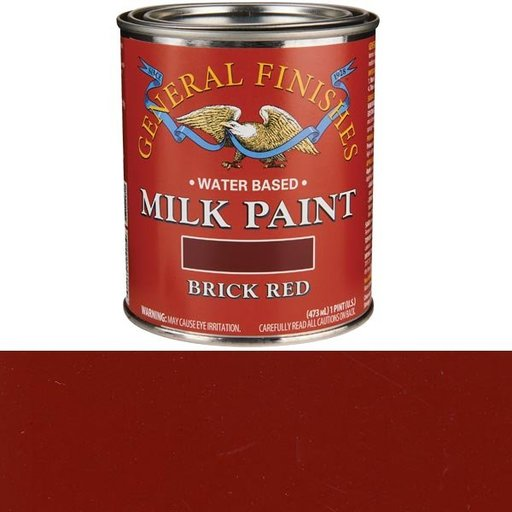 View a Larger Image of Brick Red Milk Paint Pint