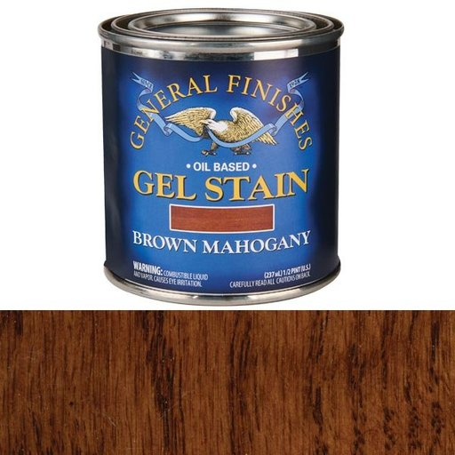 View a Larger Image of Brown Mahogany Gel Stain Solvent Based 1/2 Pint
