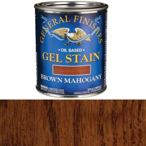 View a Larger Image of Brown Mahogany Gel Stain Solvent Based Pint