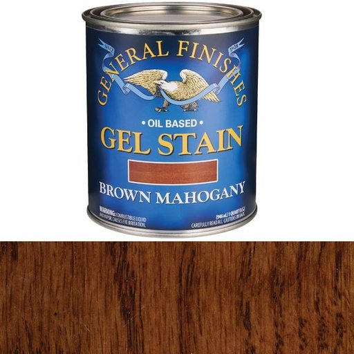 View a Larger Image of Brown Mahogany Gel Stain Solvent Based Quart
