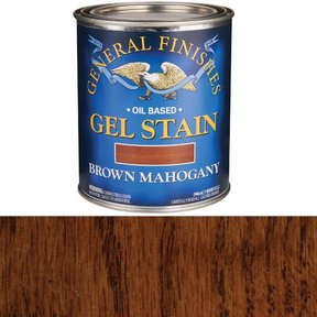 Brown Mahogany Gel Stain Solvent Based Quart