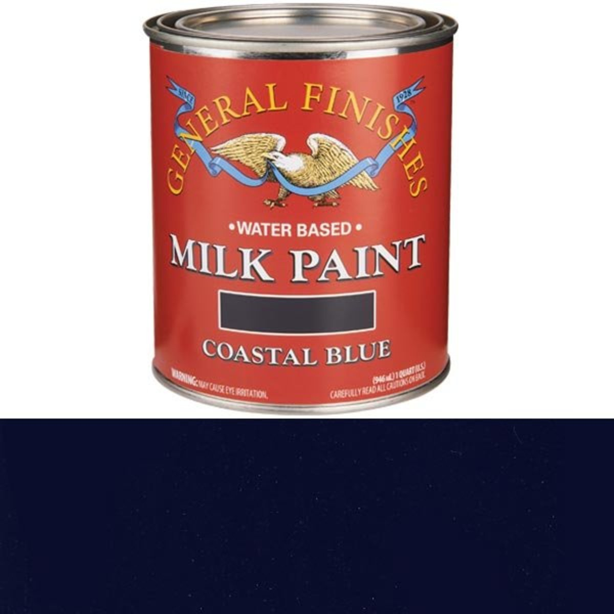 View a Larger Image of Coastal Blue Milk Paint Water Based Quart